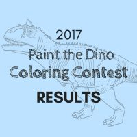 2017 Paint the Dino Coloring Contest Results