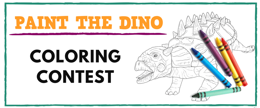 2018 Paint the Dino Coloring Contest | Clyde Peeling's Reptiland