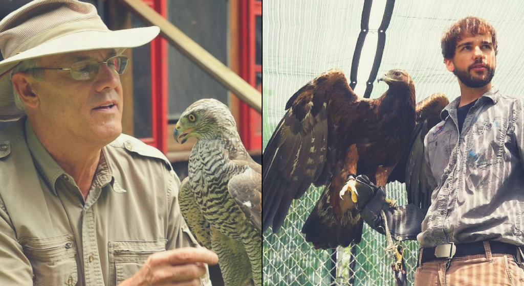 Come to Birds of Prey Day on April 22, 2018 to see Michael Kuriga and Patrick Miller of ZooAmerica, two impressive master falconers! | Clyde Peeling's Reptiland