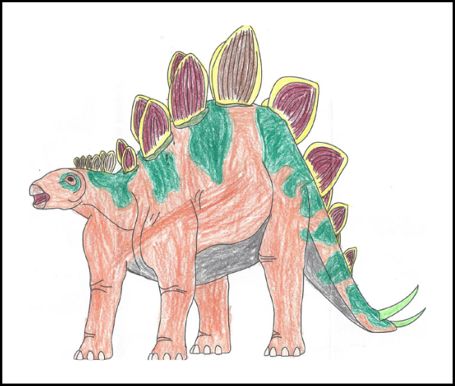 Blaze Sherman - 2019 Dino Coloring Contest Honorable Mention | 2019 Coloring Contest Results | Clyde Peeling's Reptiland