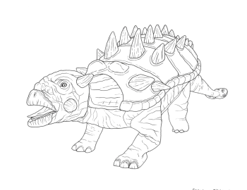 Euoplocephalus - Paint the Dino Coloring Contest 2018 | Clyde Peeling's Reptiland