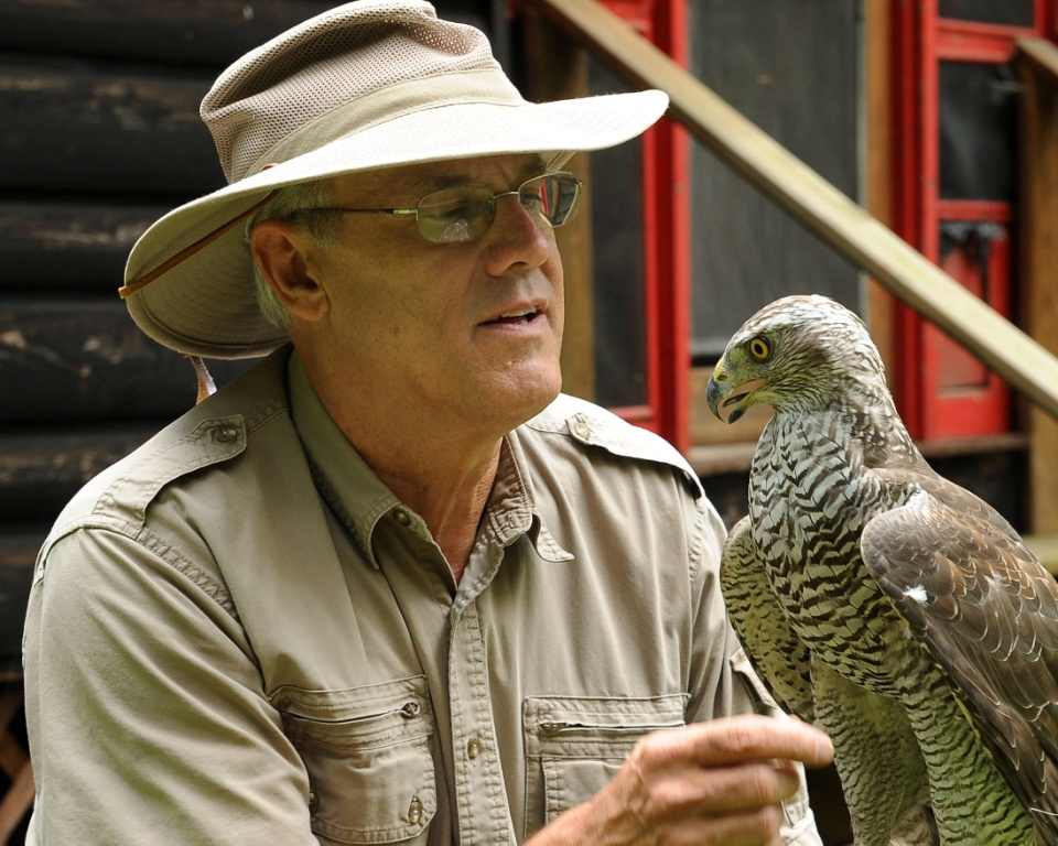 Michael Kuriga, Master Falconer | Birds of Prey Day at Clyde Peeling's Reptiland