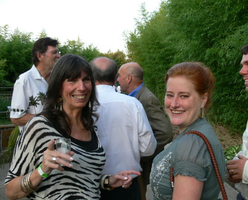 Ladies having fun at Cheers to 50 Years Celebration | Clyde Peeling's Reptiland