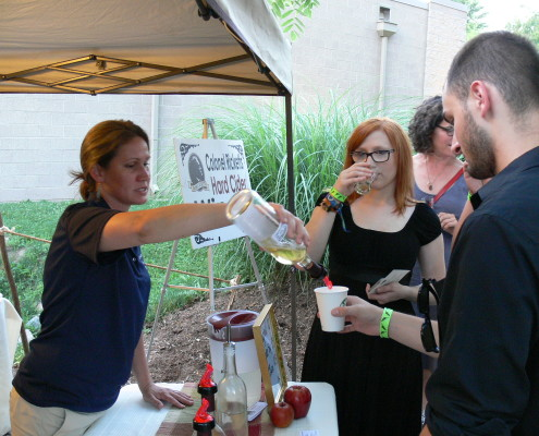 Guests tasting some of Colonel Rickett's hard cider wine at Cheers to 50 Years | Clyde Peeling's Reptiland