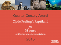 AZA Quarter Century Award presented to Clyde Peeling's Reptiland
