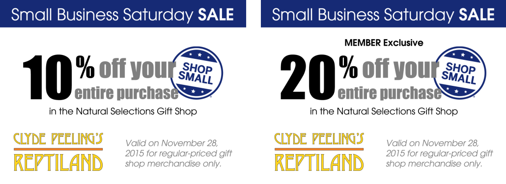 Clyde peeling's reptiland discount coupons