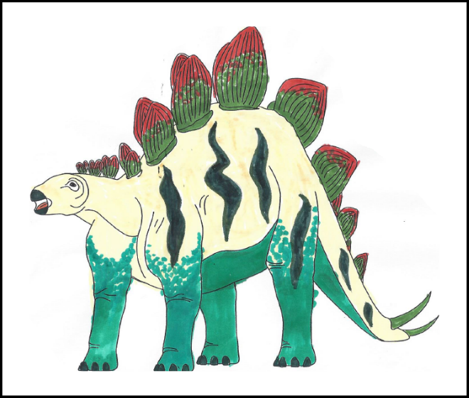 Yeva Lampel - 2019 Dino Coloring Contest Honorable Mention | 2019 Coloring Contest Results | Clyde Peeling's Reptiland