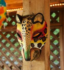 African cheetah Jacaranda wall mask