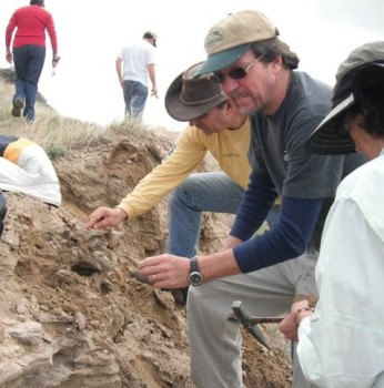 Chris DeLorey, AKA Dr. Dino, on a dig | Clyde Peeling's Reptiland